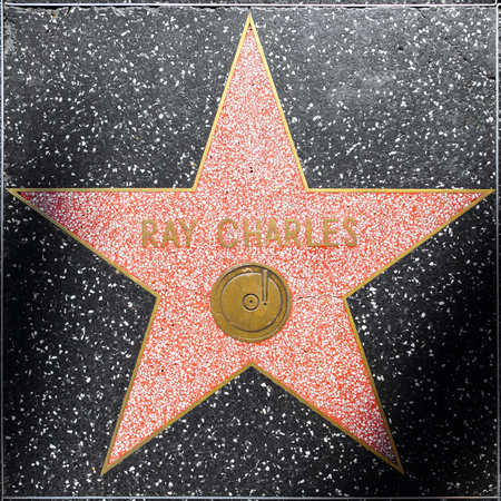 charles county: LOS ANGELES, USA - JUNE 24, 2012: Ray Charles star on Hollywood Walk of Fame in Hollywood, California. This star is located on Hollywood Blvd. and is one of 2400 celebrity stars. Editorial