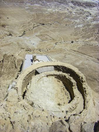 masada: Negev desert - View from ruins of Masada
