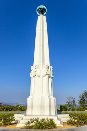Astronomers monument at the Griffith Observatory in Los Angeles, California