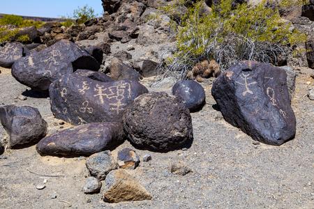 sears: Petroglyph Site, Near Gila Bend, Arizona, Rock paintings Stock Photo