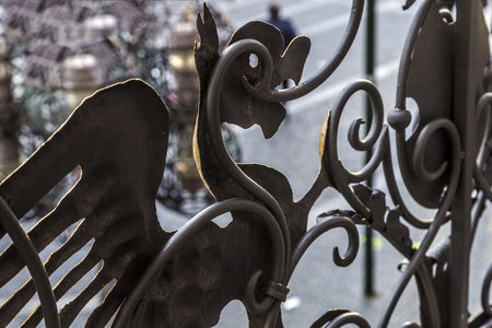 forger: iron bird ornament of an old balcony balustrade in Mainz