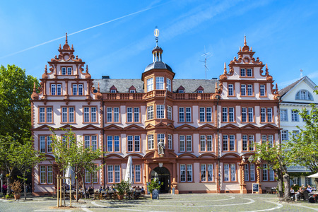 gutenberg: facade of Gutenberg Museum in Mainz, Germany