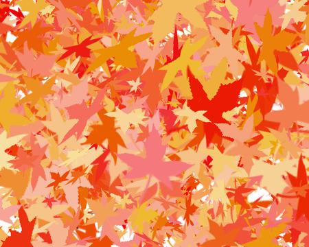 warm colors: ilustración de verano hojas indio en colores cálidos Foto de archivo