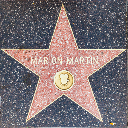 marion: LOS ANGELES, USA - JUNE 26, 2012: Marion Martins star on Hollywood Walk of Fame   in Hollywood, California. This star is located on Hollywood Blvd. and is one of 2400 celebrity stars.