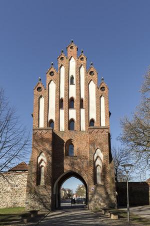 mecklenburg western pomerania: The Friedland Gate of Neubrandenburg, Mecklenburg, Germany Stock Photo