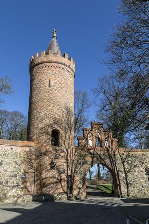 mecklenburg western pomerania: famous old city wall,weir, in Neubrandenburg