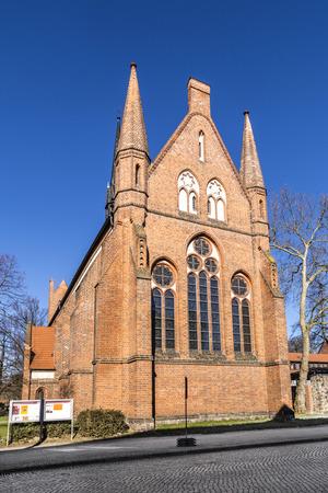 mecklenburg western pomerania: NEUBRANDENBURG, GERMANY - APR 1, 2016: Church of St. John, Neubrandenburg, Mecklenburg Western Pomerania, Germany