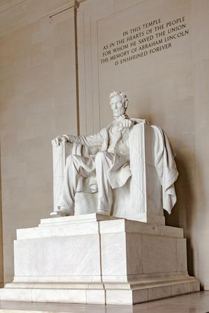 honest abe: WASHINGTON, USA - JULY 14, 2010: Statue of Abraham Lincoln at the Lincoln Memorial, Washington DC