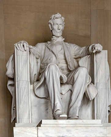 lincoln memorial: WASHINGTON, USA - JULY 14, 2010: Statue of Abraham Lincoln at the Lincoln Memorial, Washington DC