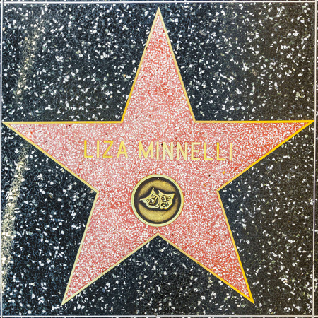 LOS ANGELES, USA - JUNE 24, 2012: Liza Minellis star on Hollywood Walk of Fame   in Hollywood, California. This star is located on Hollywood Blvd. and is one of 2400 celebrity stars.