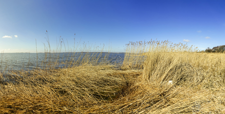 Achterwasser in Zinnowitz at island of Usedom at the baltic sea Stock Photo