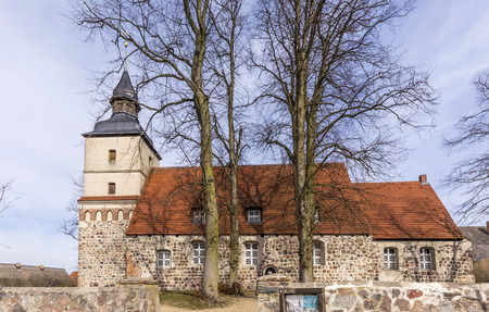 reprimanding: old church in the small village of Benz in Usedom