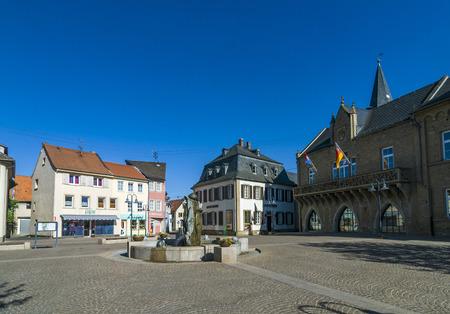 BAD SOBERNHEIM, GERMANY - MAY 10, 2008: beautiful historic medieval market place in Bad Sobernheim