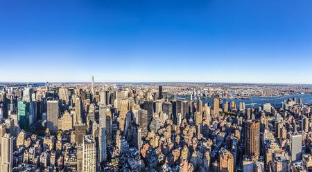 NEW YORK, USA - OCT 23, 2015: specular skyline view of New York by night