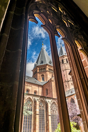 Mainzer Dom cathedral in Mainz in Germany