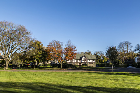 indian summer: typical classical old house in the Hamptons in Indian Summer