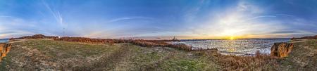 montauk: Atlantic ocean waves on the beach at Montauk Point Light, Lighthouse, Long Island, New York, Suffolk County