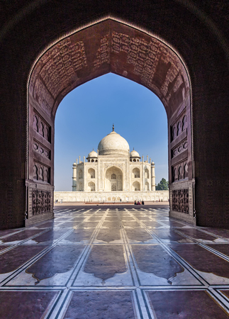 dome of hindu temple: Taj Mahal in India Stock Photo