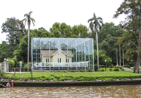 tigre: BUENOS AIRES, ARGENTINA - JAN 27, 2015: The Sarmiento House  was the former residence of Domingo Sarmiento, the 7th President of Argentina.