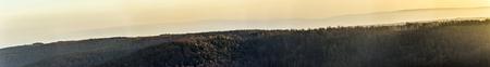 Szenische panoramische Landschaft in Deutschland, Kyffhaeuser Wald Standard-Bild - 88060187