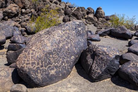 sears: Petroglyph Site, Near Gila Bend, Arizona Stock Photo