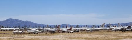 pima: TUCSON, ARIZONA - JUNE 13, 2012: Davis-Monthan Air Force Base AMARG boneyard in Tucson, Arizona. Its the place where nearly 5,000 aircraft have gone to die.