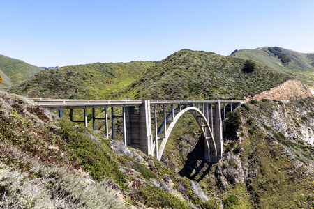 bixby bridge at Highway 1 on the pacific coast, California