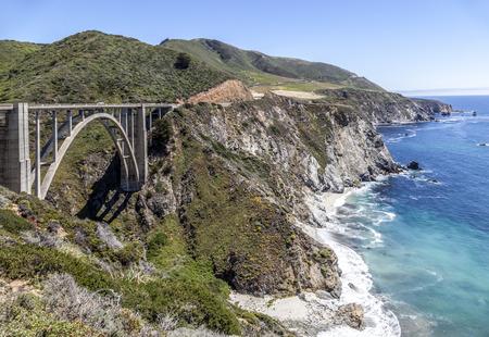 bixby bridge at Highway 1 on the pacific coast, California