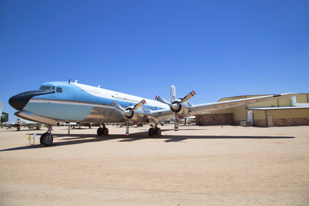 tUCSON, USA - JUNE 13, 2012: visiting the Pima Air and space Museum  in Tucson, USA. The museum is one of the largest aviation museums in the world and maintains a collection of 700 aircrafts.