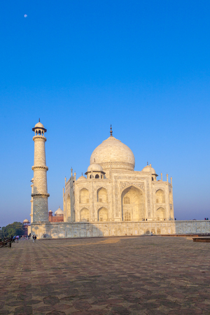dome of hindu temple: Taj Mahal in India in morning light Stock Photo