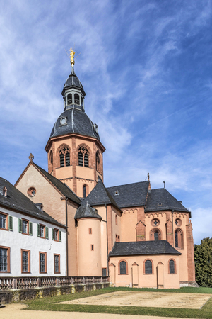 famous benedictine cloister in Seligenstadt, Germany under blue sky Stock Photo