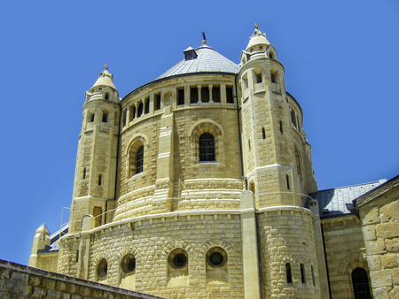 Israel. Jerusalem. Old city. The south wall. Dormition Monastery (Assumption) on Mount Zion Banco de Imagens