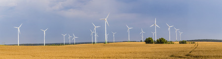 wind generators deliver electricity in Wolgast, Germany