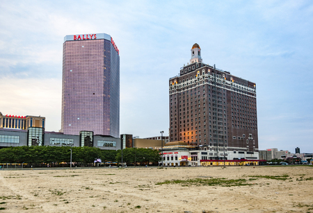 ATLANTIC CITY, USA - JULY 12, 2010:  skyline of Atlantic city in the afternoon with ballys and claridge and caesars casino. Editorial