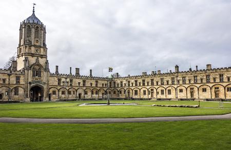 oog op christus kerk college in Oxford, Engeland Stockfoto