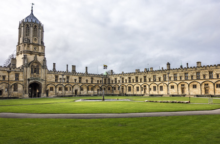 OXFORD, UNITED KINGDOM - FEB 26, 2017: view to christ church college in Oxford, England