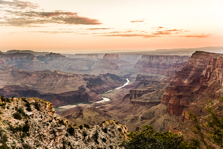 sunrise at Grand Canyon from desert view point