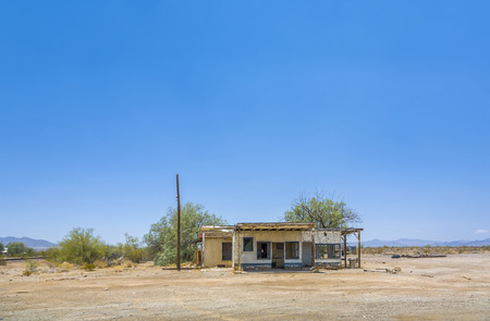 abandoned house at the route 95 near the small village of  Vidal