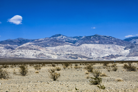 view to Panamint Valley desert mountain range near death valley