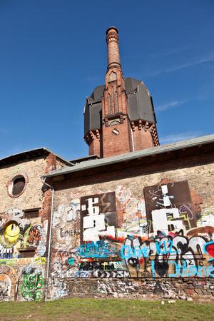 old historic watertower build of bricks