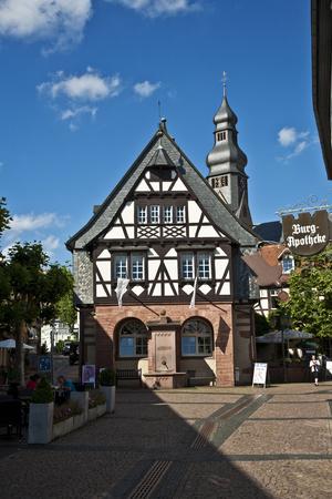 HOFHEIM, GERMANY - JUNE 11, 2010: old german renovated half timbered houses Editorial