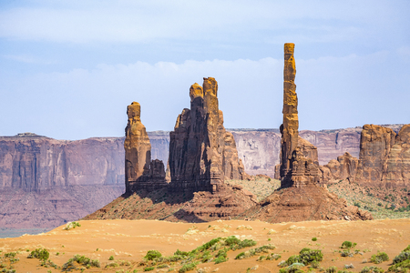 Totem Pole Butte is a giant sandstone formation in the Monument valley
