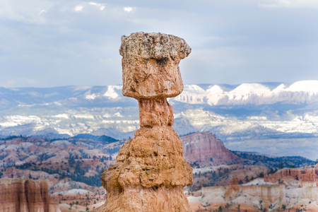 beautiful landscape in Bryce Canyon with magnificent Stone formation, remaining light in the dark