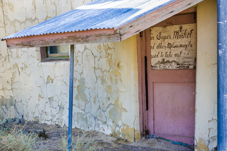 old abandonned supermarket, building in Death valley junction,  an old Borax Mining spot