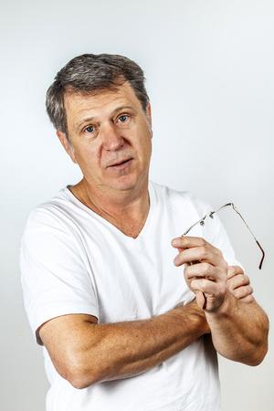 portrait of man in studio photo