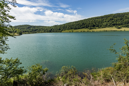lake of Ilay in the french Jura region