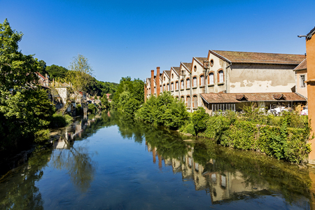 typical small village L-Isle-sur-le-Doubs in France in the Doubs valley Stock Photo - 81554756