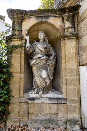 old  statues in Aix en provence made of Sandstone in joseph sec mausolee