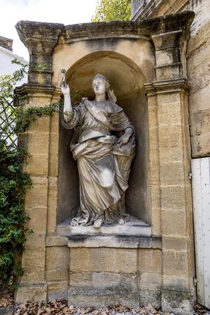 old  statues in Aix en provence made of Sandstone in joseph sec mausolee Stock fotó - 84340664