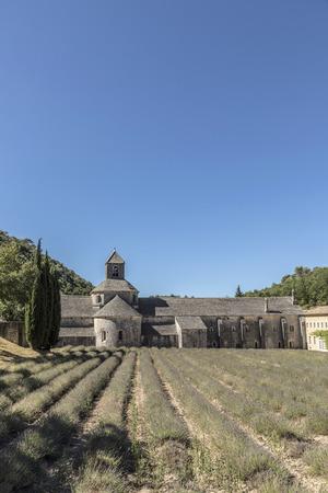senanque: famous Senanque cloister in Gordes, Provence, France